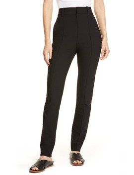 High Waist Stretch Cotton Cigarette Pants by Vince