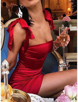 red-satin-look-bodycon-mini-dress by choies