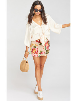 Ruffle Wrap Shorts ~ Honolulu Blooms by Show Me Your Mu Mu