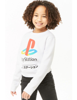 Girls Play Station Sweatshirt (Kids) by Forever 21