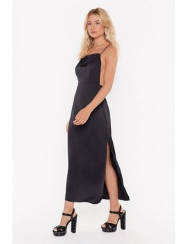 Square's The Party Satin Midi Dress by Nasty Gal