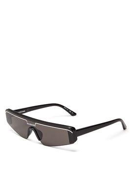 Women's Rectangular Shield Sunglasses, 99mm by Balenciaga