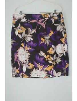 Ann Taylor Floral Pencil Skirt  With Lining 18 W 2 Xl Excellent by Ann Taylor