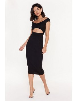 Love Me If You Bare Cut Out Bandage Midi Dress by Nasty Gal