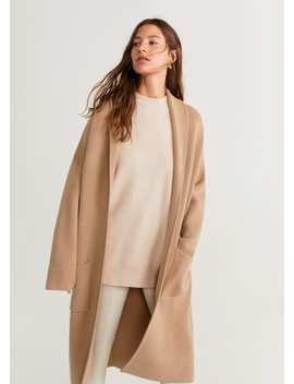 "<Font Style=""Vertical Align: Inherit;""><Font Style=""Vertical Align: Inherit;"">Knitted Overcoat Without Lining</Font></Font> by Mango"