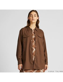 Women Hana Tajima Shirt Jacket by Uniqlo