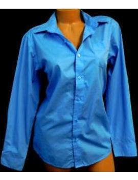 Van Heusen Blue Plus Size Long Sleeve Patch Pocket Career Button Down Top 18 by Van Heusen