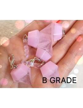 B Grade!! Rose Quartz Resin Diamond Charm   Handmade Ooak Kawaii Charms by Etsy