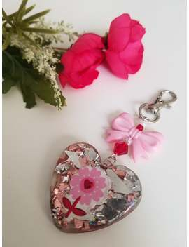 Heart Charm With Flower | Kawaii Charm | Planner Charm | Phone Charm | Bag Charm | Kawaii Gift | Kawaii Accessory by Etsy