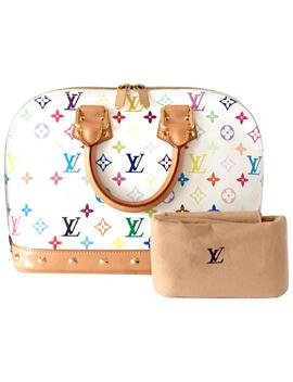 Alma Murakami Multicolor White Leather Satchel by Louis Vuitton