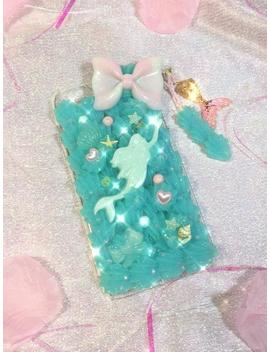 Mermaid I Phone 6 Plus Decoden Phone Case With Whip & Mermaid Tail Charm by Etsy