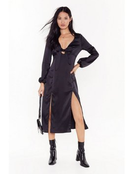 All Cut Out Of Patience Satin Midi Dress by Nasty Gal