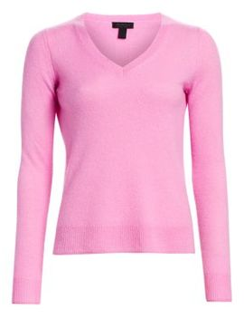 Collection Featherweight Cashmere V Neck Sweater by Saks Fifth Avenue
