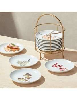 Autumn Plates With Stand, Set Of 12 by Crate&Barrel