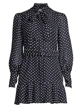 Ivette Polka Dot Shirtdress by Alexis