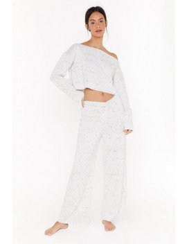 Fleck Waffle Knitted Sweater & Jogger Set by Nasty Gal