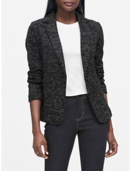 Unstructured Knit Tweed Blazer by Banana Repbulic