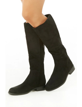 Faux Suede Knee High Boots by Forever 21