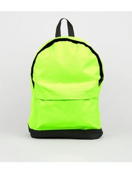 Green Neon Backpack by New Look