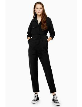 Covered Belt Boilersuit by Topshop