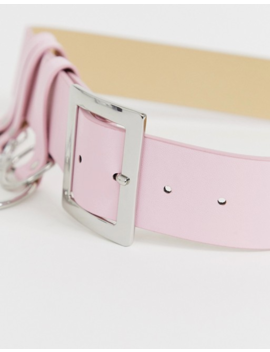 Asos Design Chain And Ring Waist And Hip Belt In Pastel Pink by Asos Design