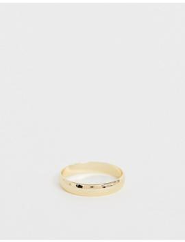Asos Design Curve Minimal Ring In Gold Tone by Asos Design