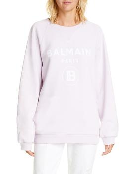 Logo Cotton Sweatshirt by Balmain