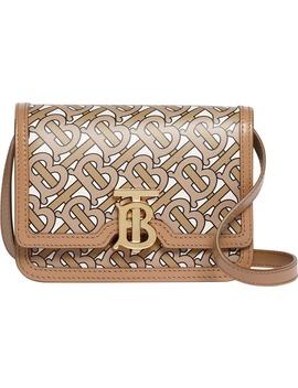 Mini Tb Monogram Leather Crossbody Bag by Burberry
