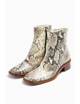 Arrow Snake Flat Boots by Topshop