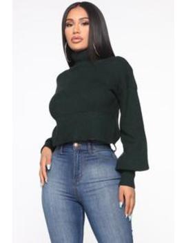 Won't Stop Loving You Turtleneck Sweater   Hunter by Fashion Nova