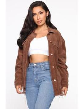 From Start To Finish Jacket   Brown by Fashion Nova