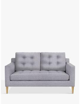 John Lewis & Partners Draper Medium 2 Seater Sofa, Light Leg, Saga Grey by John Lewis & Partners