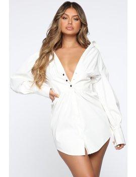 Lets Meet Up Mini Dress   White by Fashion Nova