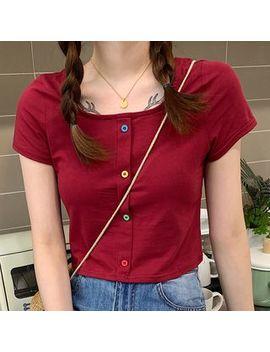 Dute   Short Sleeve Buttoned T Shirt by Dute
