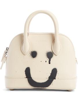Extra Extra Small Ville Happy/Sad Leather Crossbody Satchel by Balenciaga
