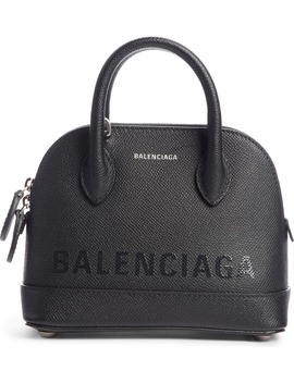 Ville Leather Crossbody Satchel by Balenciaga