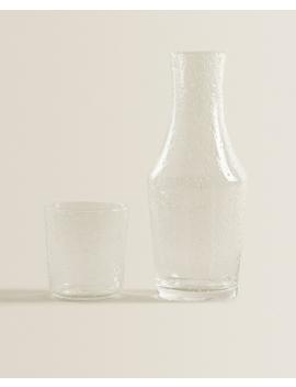 Bubbleeffect Glass Night Set   New In by Zara Home