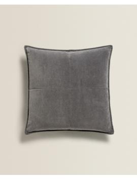 Grey Velvet Cushion Cover  New In by Zara Home
