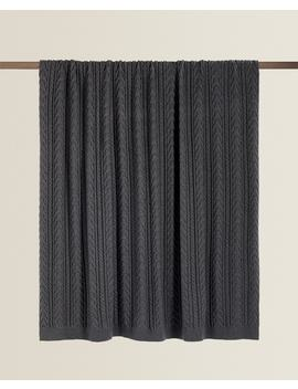 Cable Knit Blanket  New In by Zara Home