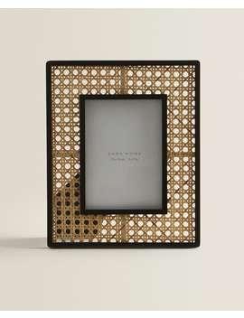 Black Border Rattan Frame  New In by Zara Home