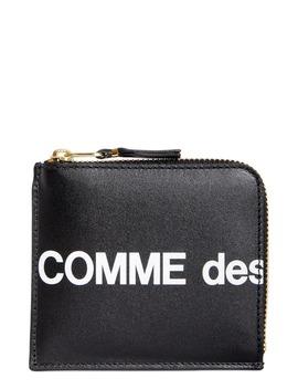 Huge Logo Half Zip Wallet by Comme Des GarÇons