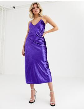 Vestire Natural Born Killers Velvet Slip Midi Dress by Midi Dress