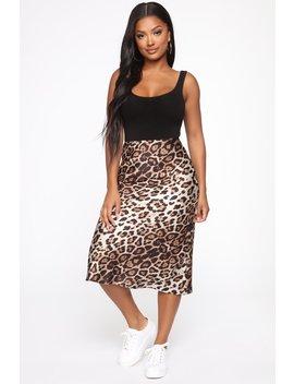 Untamed Midi Skirt   Leopard by Fashion Nova