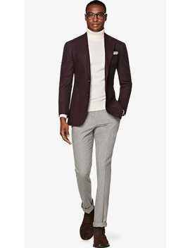 Havana Burgundy Check Jacket by Suitsupply
