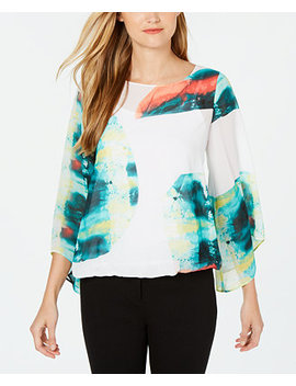 Abstract Print Blouse, Created For Macy's by General