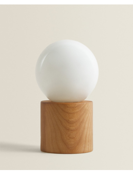 Lamp With Wooden Base  New In by Zara Home
