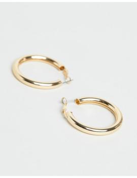 Liars &Amp; Lovers Exclusive Gold Tube Hoop Earrings by Liars & Lovers