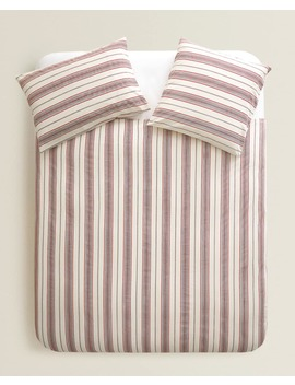 Striped Duvet Cover  New In by Zara Home