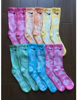 Nike Tie Dye Socks, Unisex Adult Socks, Sports Tie Dye, Crew Socks, Mystery Socks by Etsy