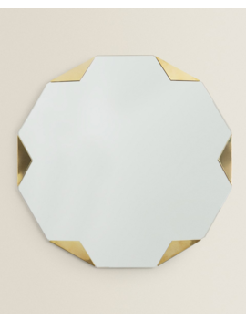 Golden Detail Mirror  New In by Zara Home
